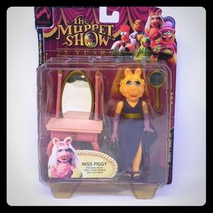 Miss Piggy Play Set The Muppet Show NIB Palisades